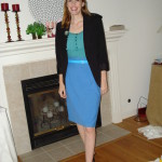Butterick 5466 Blue Pencil Skirt