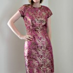 Butterick 5520 Brocade Dress