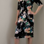 McCall's 6355 Floral Dress with Sheer Panel