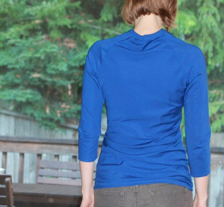 Yep. Back pleats are totally flattering. I also clearly didn't fit the back neck. Like, at all.
