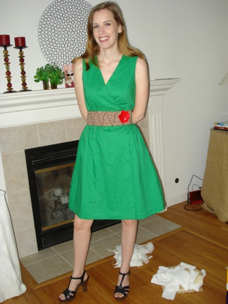 LOL at the fabric scraps on the ground. I just finished sewing that project, four years later!