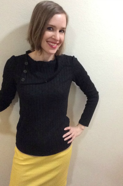 If you don't already have a yellow pencil skirt, I *highly* recommend it!  Just saying.