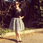 McCall's 6706 Taffeta Plaid Skirt