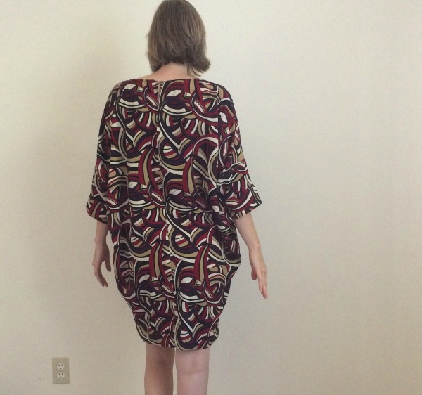 Decidedly *not* this dress's most flattering angle...